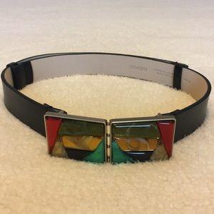 Royal court style leather belt